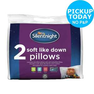 Silentnight Soft Like Down Pillow - 2 Pack £7.33 at Argos (Free collection)