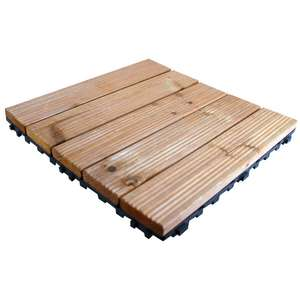 Pack of 9 wooden deck floor tiles £19.99 at Suttons