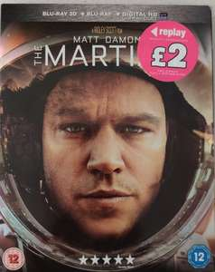 Buy any 20th Century Fox Blu-Ray for £2 and get free digital download e.g The Martian £2 instore North Shields Poundland