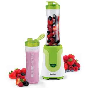 Breville Blend Active Personal Blender & Smoothie Maker with 2 Bottles - Green, £15.99 at Amazon (+£4.49 non prime)