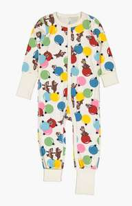 Polarn O. Pyret Baby GOTS Organic Cotton Chip 'N Dale Christmas Romper, Multi £12 (£2 C&C) at John Lewis & Partners