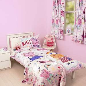 Peppa Pig Sticker Duvet Cover and Pillow Set Cotbed & Single Set £8 @ Dunelm Free Standard Delivery Over £49