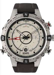 Timex Men Tide Temp Compass Analogue Dial with a Brown Leather Strap Watch £75 @ Amazon