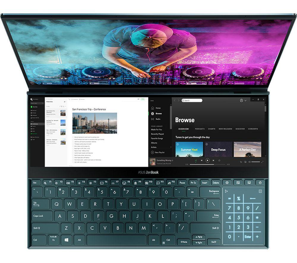 "ASUSZenBook Pro Duo 15.6"" Laptop - Intel® Core™ i9, 1 TB SSD, 32GB, GTX 2060 6B £2149 @ Currys"