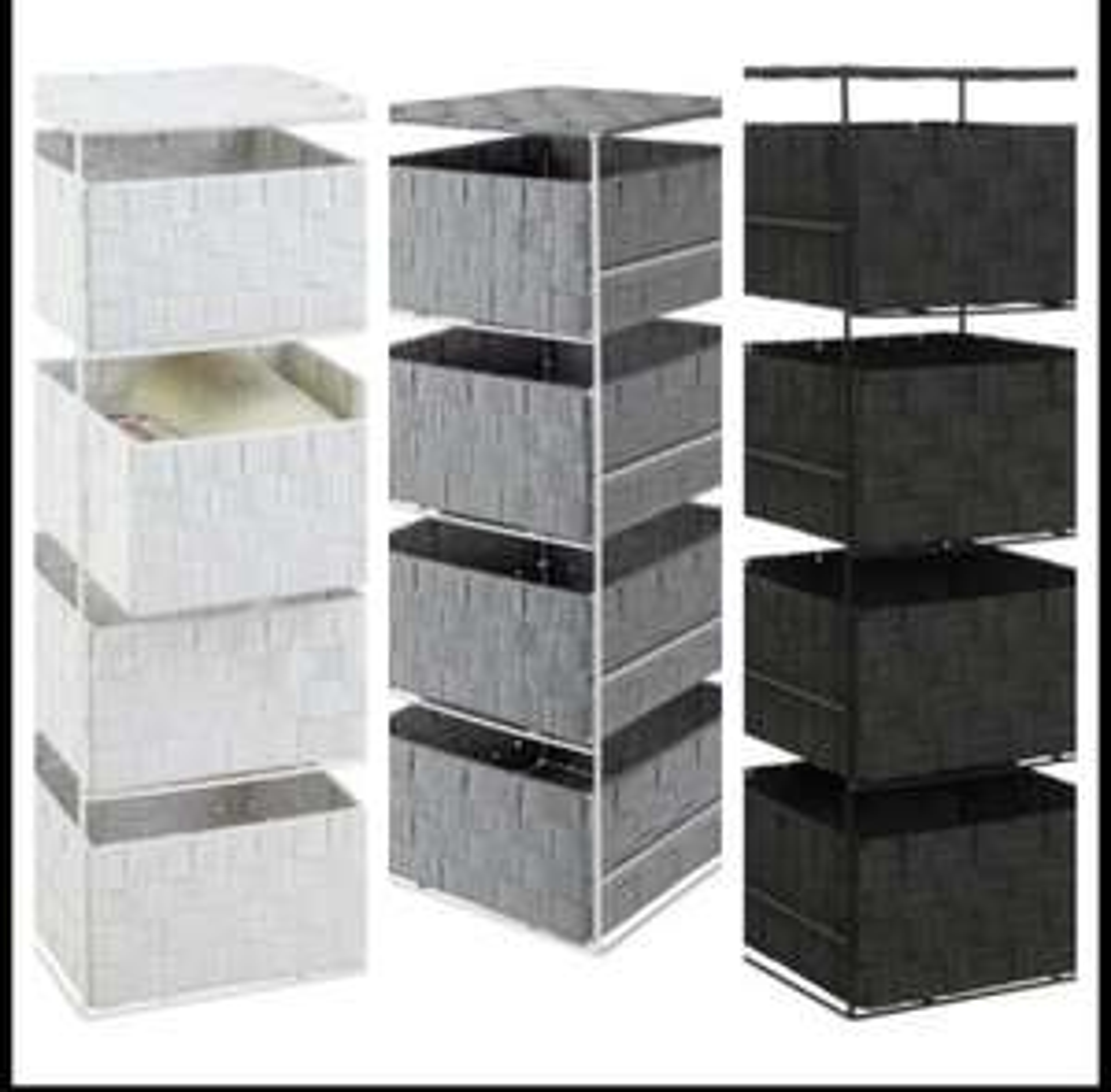 Argos Home 4 Drawer Storage Unit - White & Black For £15