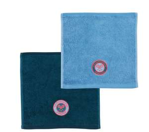 Wimbledon Face Cloth Pack Of Two Cornflower & Petrol £8 delivered @ Christy