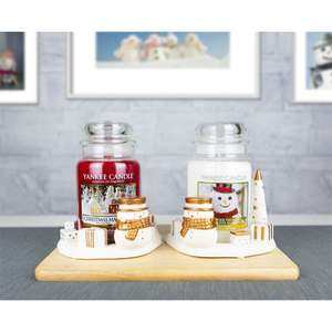 Yankee Candle Set of 2 Jackson Frost Snowman Festive Season Jar Holders (jars not included) £10 Delivered @ Yankee Bundles
