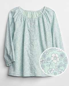 Gap Kids Floral Button-Front Top £4.79 @ Gap Free click and collect