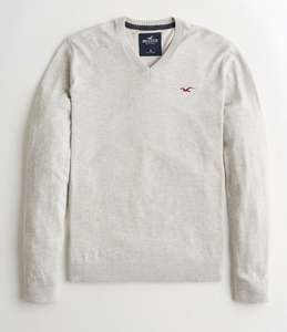 Hollister Lightweight V-Neck Sweater £9.86 in various colours (free delivery or click and collect)