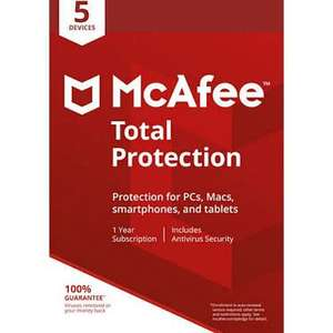 McAfee Total Security 5 devices 1 year £5.49 @ Amazon