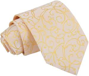 DQT Woven Swirl Floral Wedding Classic Neck Tie for Men | 12 Colours Available - Dispatched from and sold by DQT Ltd on Amazon