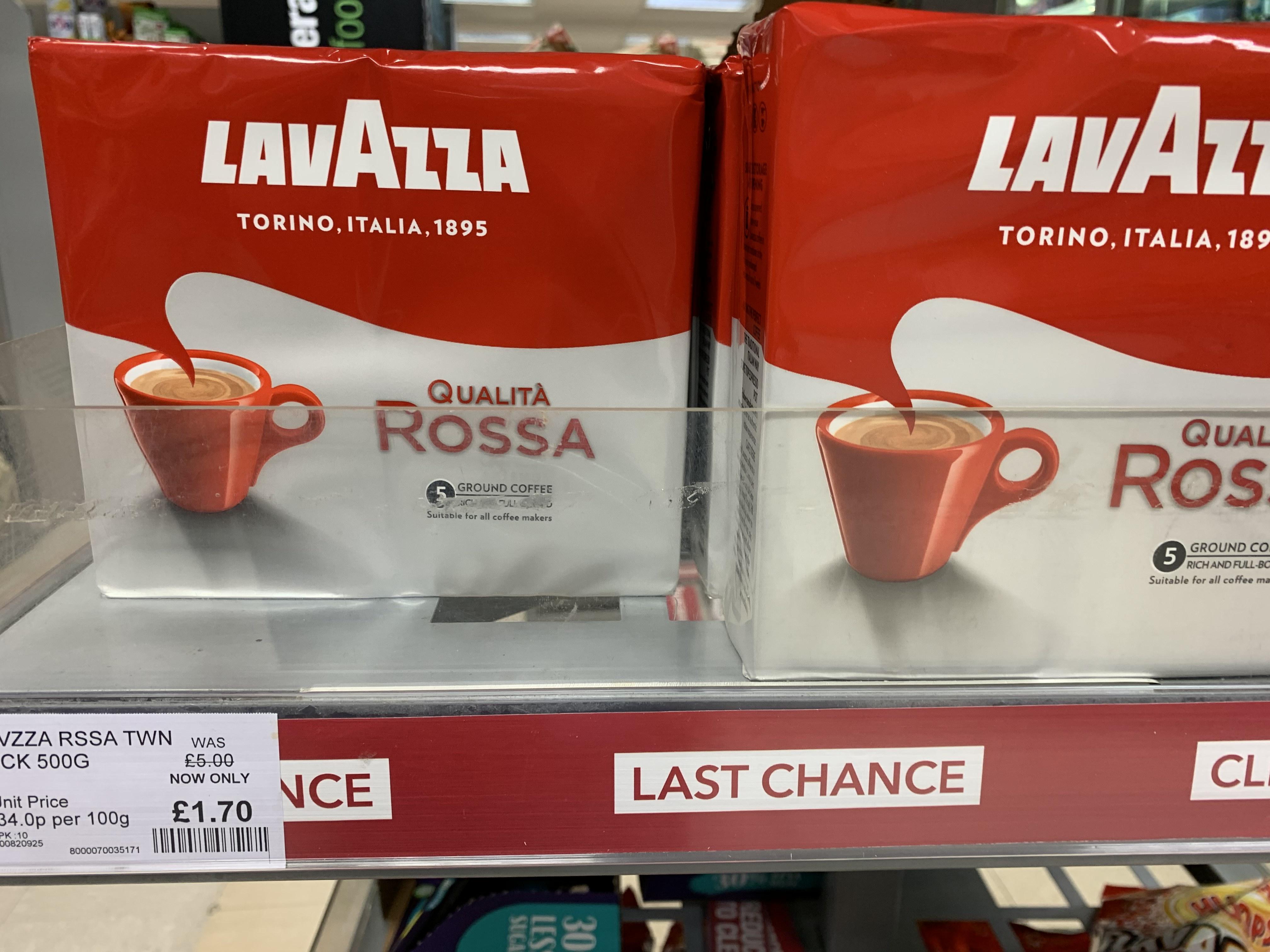 Lavazza Qualita Rossa Ground 500g £1.70 in Co-Op