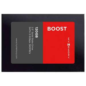 """MyMemory Boost Internal SSD Drive 2.5"""" SATA III 120GB - 560MB/s £14.39 with code, delivered at MyMemory"""