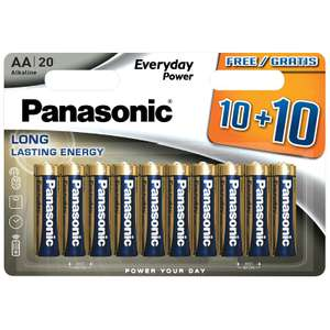 Panasonic AA alkaline batteries 20 pack for £5 or 2 packs for £8 @ B&M (Whitby)