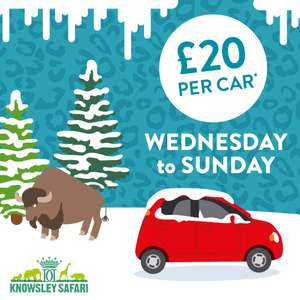 Knowsley Safari Park Entry £20 Per Car (Wednesday to Sunday)