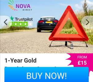 Nationwide car recovery & home assistance. £24 annual cost. Nova via woucher