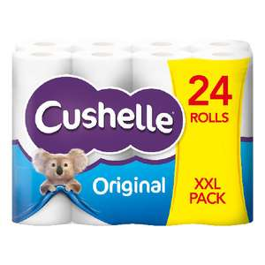 24x Cushelle Toilet rolls XXL pack £6.50 at Centra and SuperValu Northern Ireland