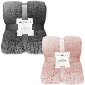 Highams Faux Mohair Large Throw - 150x200cm £12.98 Delivered @ Onlinehomeshop