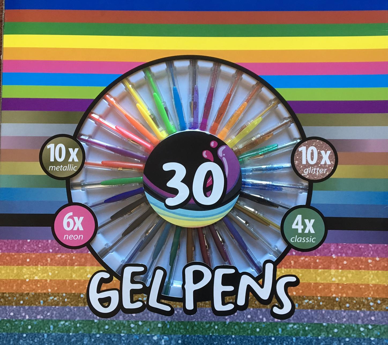 Tesco (Leeds) - 30 x Gel Pens - £2.50