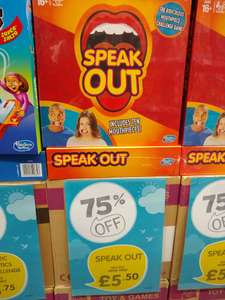 Hasbro Speak Out board game £5.50 @ TheToyShop.com (The Entertainer)