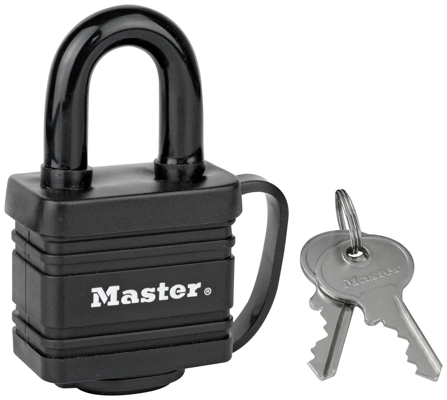 Master Lock Thermoplastic Weatherproof Padlock - £5.00 @ Argos ( free click & collect ) - Limited lifetime guarantee