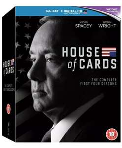 House of Cards season 1-4 Blu-Ray + Digital In-store @ HMV - £6.99