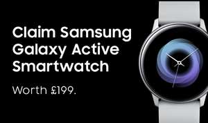 Claim a Galaxy Watch Active worth £199 when you buy a Galaxy S10, S10+, S10 5G or Note10+ 5G