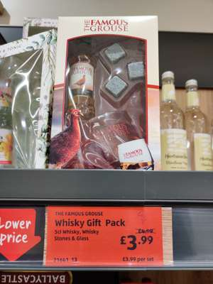 Famous Grouse gift set miniature, glass and whisky stones £3.99 @Aldi Dundee