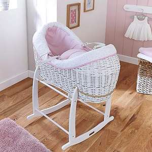 Up to 50% off Selected Nursery Furniture Pink Clair de Lune Stars & Stripes White Crossover Pod , Pink Lining £57.50 Delivered From Dunelm