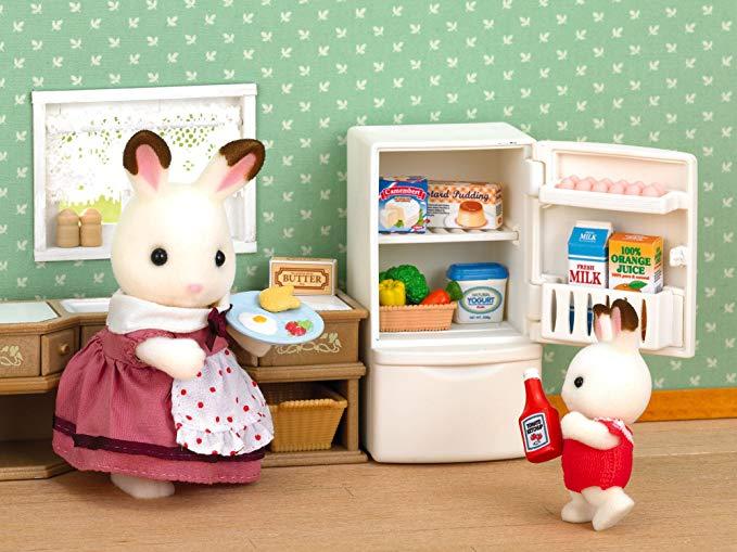 Sylvanian Families Refrigerator Set - Mini-Doll £5.00 @ Amazon