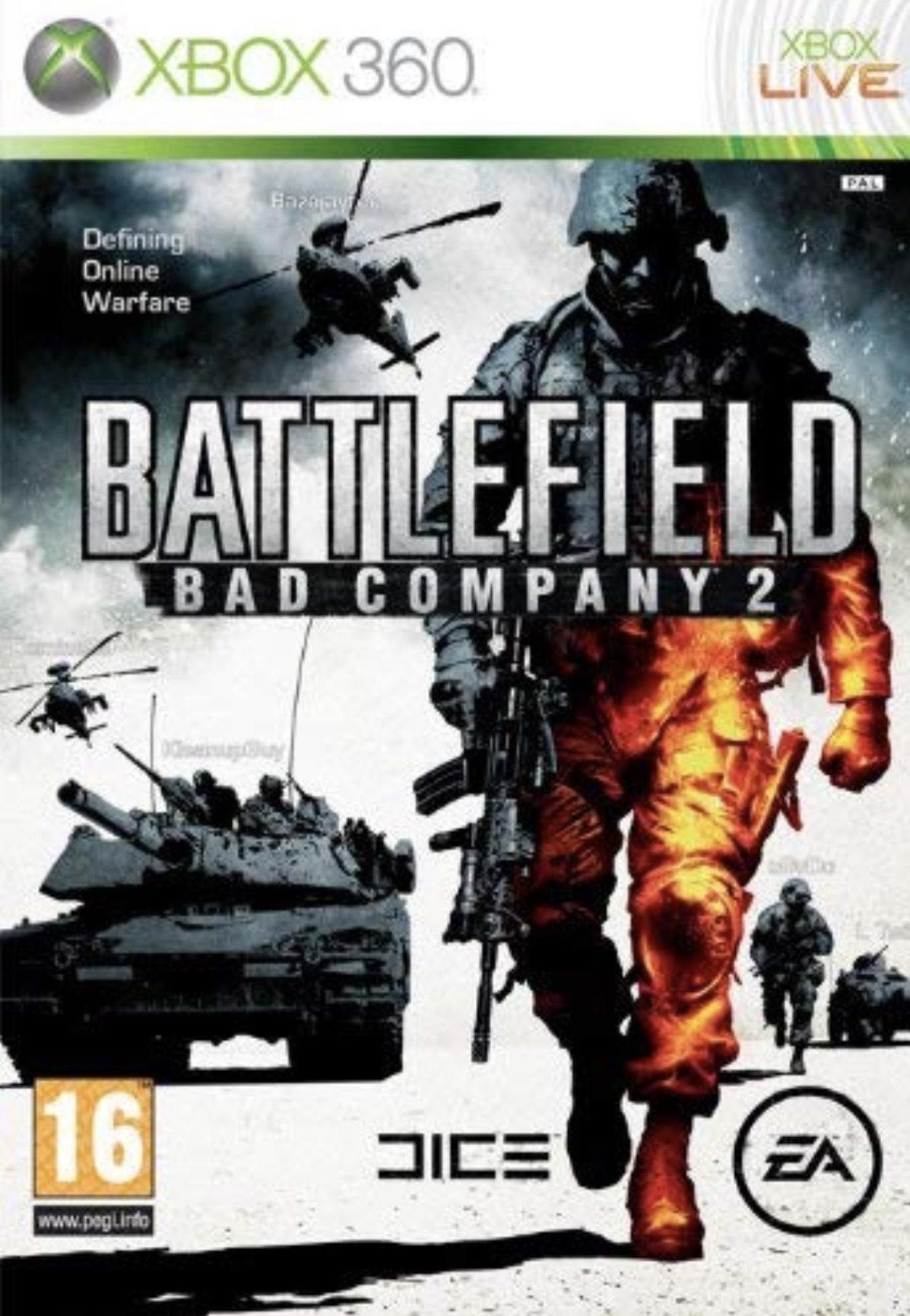 Battlefield: Bad company 2 // Battlefield 3 (Xbox 360/Xbox One) £3.74 with gold @ Microsoft store