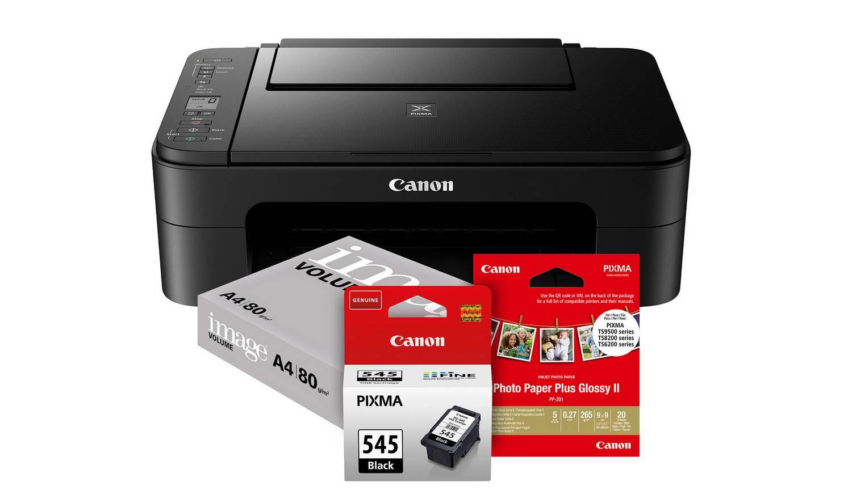Canon PIXMA TS3150 Student Essentials Printer Bundle £36.99 at Argos