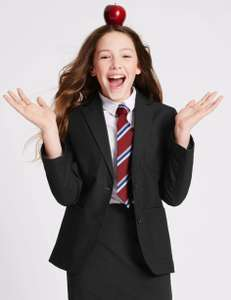 Senior Girls' Longer Length Black School Blazer from £11.50 (free click and collect) @ Marks and Spencer