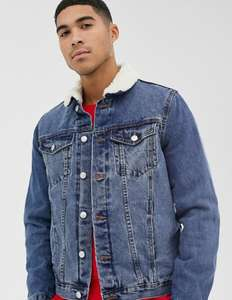 Men's New Look Borg Lined Denim Jacket now £18.50 sizes XS to XL @ ASOS - Postage is £4 or Free with Premier / £30 spend