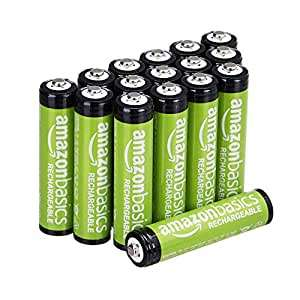 AmazonBasics AAA Rechargeable Batteries (16-Pack) 800mAh Pre-charged £13.99 Prime / +£4.49 non-Prime @ Amazon