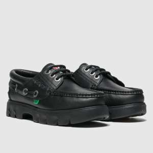Kickers Black Lennon Boat Shoes Youth £16.99 @ Schuh (Free Click + Collect)