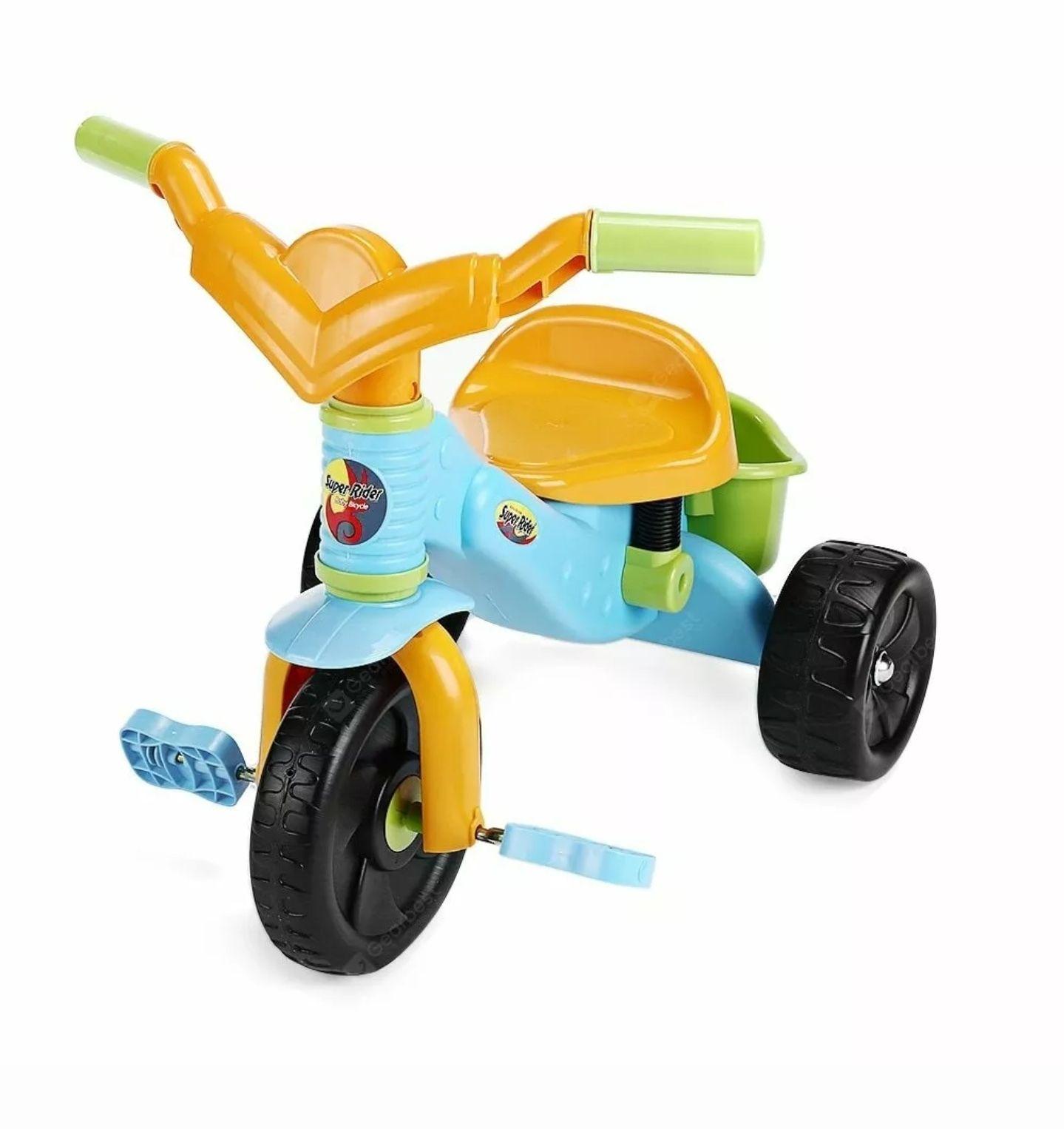 Virhuck Kids Tricycle Trike Children 3 Wheel Super Rider Rear With Basket at Ebay/Mason-Goods for £12.99