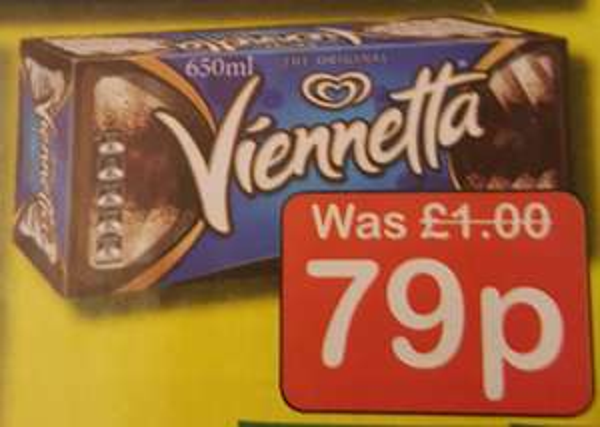 Viennetta (650ml) 79p at Farmfoods