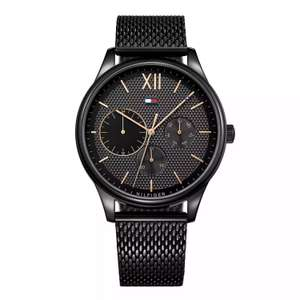 Tommy Hilfiger - Gents stainless steel black IP mesh bracelet watch £87.50 at Amazon
