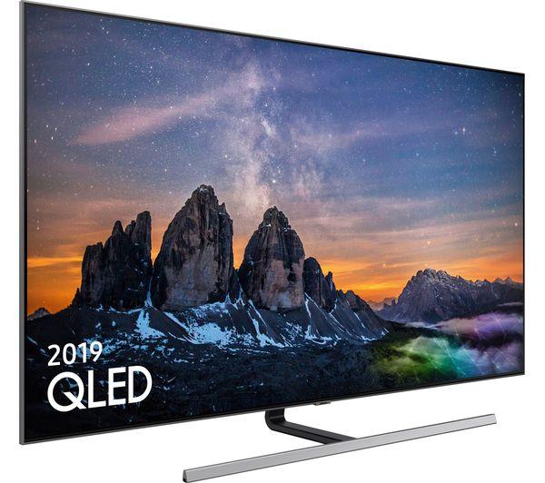 "SAMSUNG QE55Q80RATXXU 55"" Smart 4K Ultra HD HDR QLED TV (2019) with Bixby, 6 Months Spotify, 5 Year Guarantee £999 at Currys PC World"