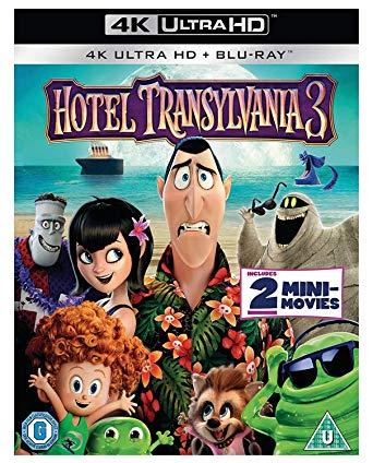 Hotel Transylvania 3 [4K Ultra HD] [Blu-ray + Digital copy] [2018] [Region Free] £8.49 Prime / +£2.99 @ Amazon
