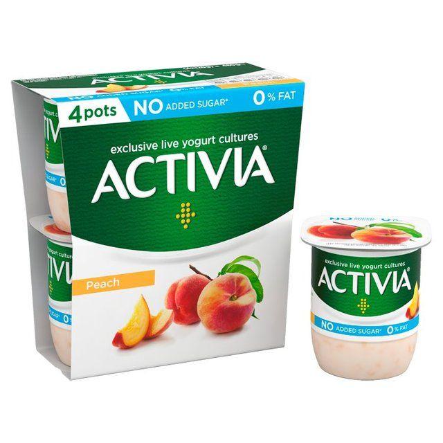 Activia Peach 0% Fat4 x 120g - £1 @Morrisons (Cashback Available)
