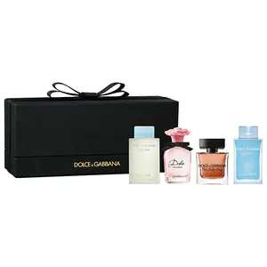 Dolce & Gabbana D&G Miniatures Gift Set for her 4, 5ml bottles for £29.99 Delivered From The Perfume Shop