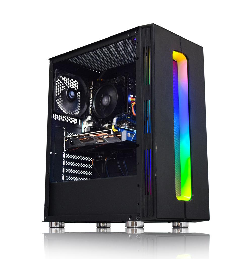 AWD 2300X Quad Core RX 580 4GB RGB Desktop PC - £399.98 @ AWD-IT