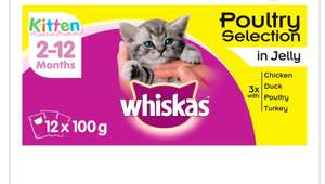 Whiskas Kitten Food x 12 pouches - £2.50 in-store / online (+ £2 Click and Collect) @ Wilko