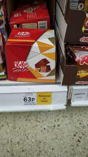 KitKat senses salted caramel 20 pieces (200g) reduced to 63p Tesco in store