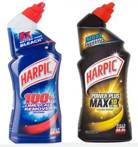 Harpic Duraguard 100% Limescale Remover 750ml // Harpic Power Plus Toilet Cleaner 750ml- £0.90 with code + Free Click & Collect @ Rober Dyas
