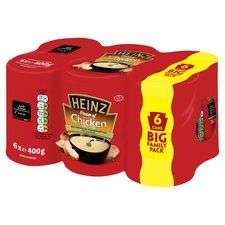 Heinz cream of chicken soup/ tomato 6x400g £3 @ Tesco