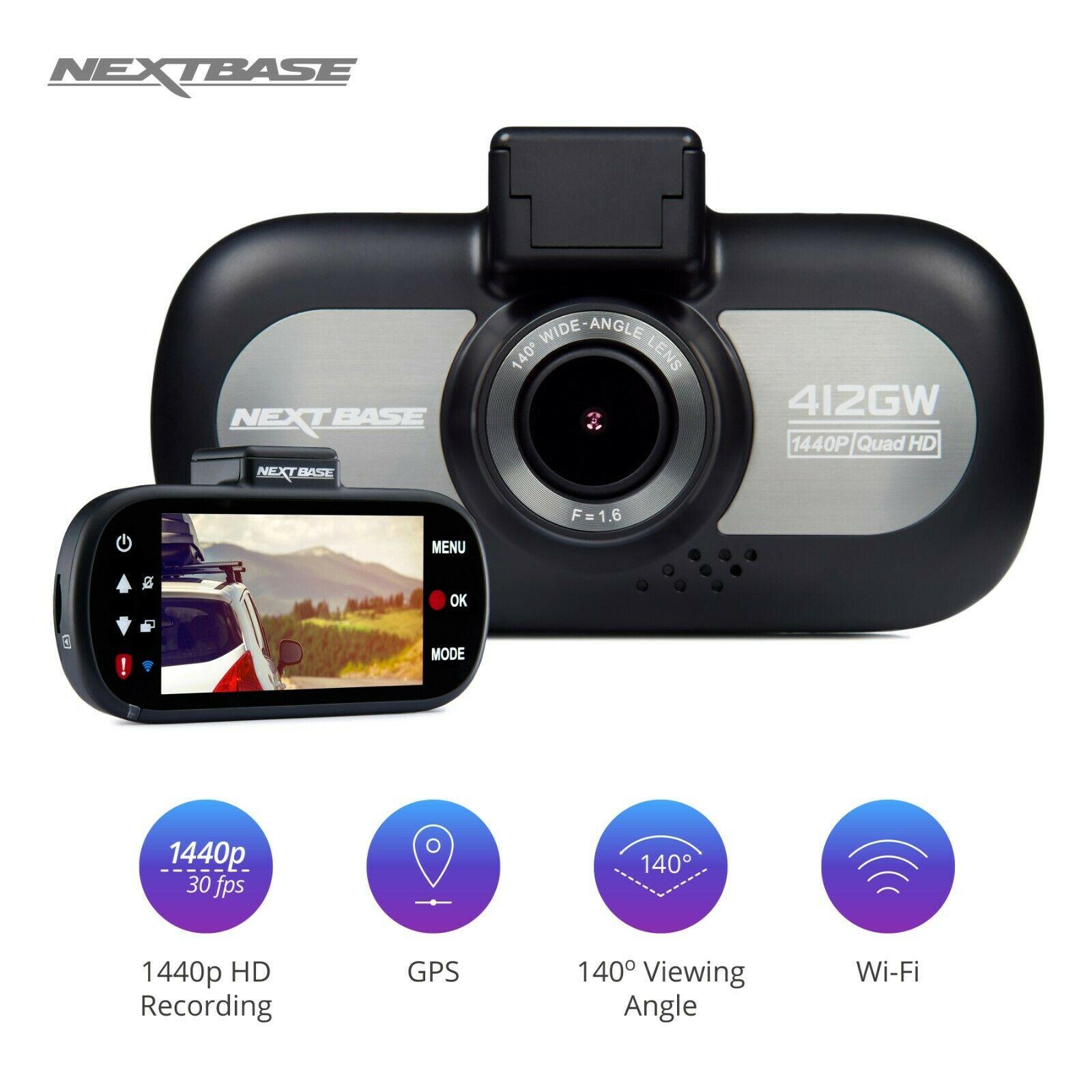 "Nextbase 412GW Dash Cam 3"" LED Car Recorder Night Vision GPS Wi-Fi - £69.95 delivered @ velocityelectronics / eBay"