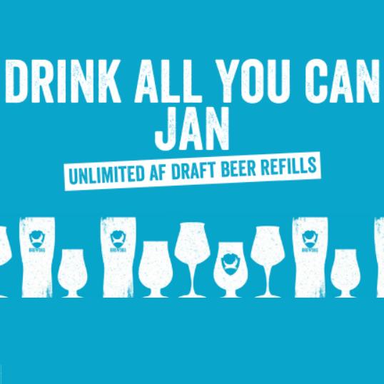 Free Refills on draft AF (Alcohol-Free) at every Brewdog bar